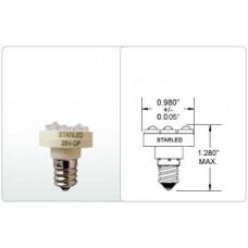 CANDELABRA SCREW BASE W/ 3 SUPER FLUX LEDS